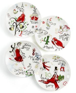 Lenox Dinnerware Set of 4 12 Days of Christmas Dessert Plates. Lenox Dinnerware  sc 1 st  Pinterest & Lenox Dinnerware Set of 4 12 Days of Christmas Dessert Plates ...