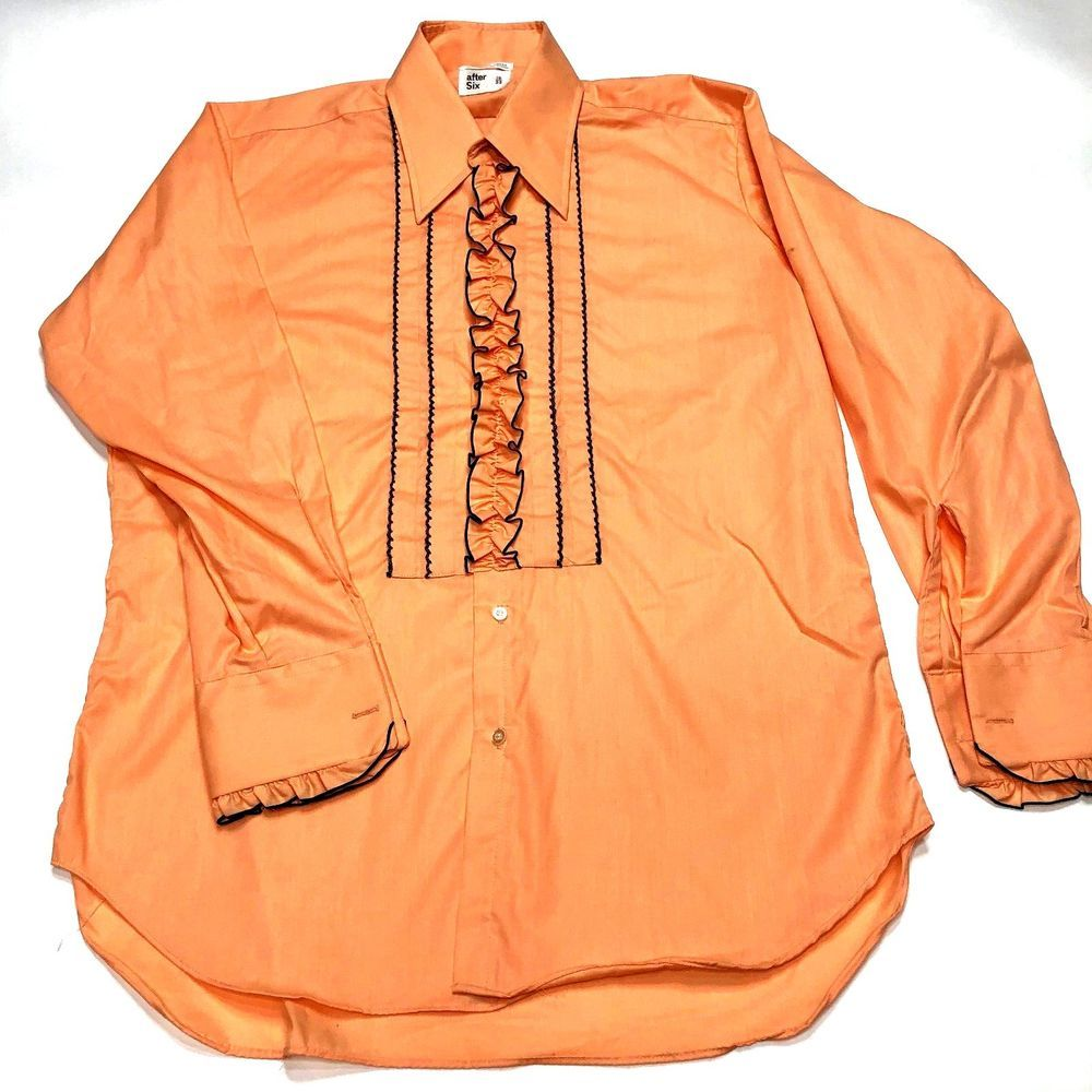 Men's Tuxedo Shirt Size 16/33 After Six 1970's