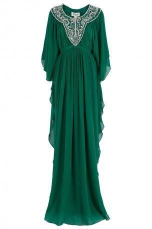 Green Beaded Kaftan by Temperley London
