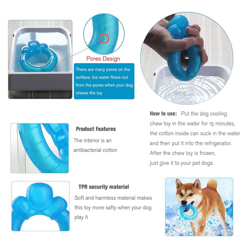 Small Dog Toys Shangjingmeixie Cute Dog Water Toys Paw Donut