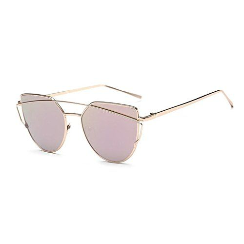 05666dcc0cd Grand Womens Designer Sunglasses Metal Frame Mirrored Res... https   www