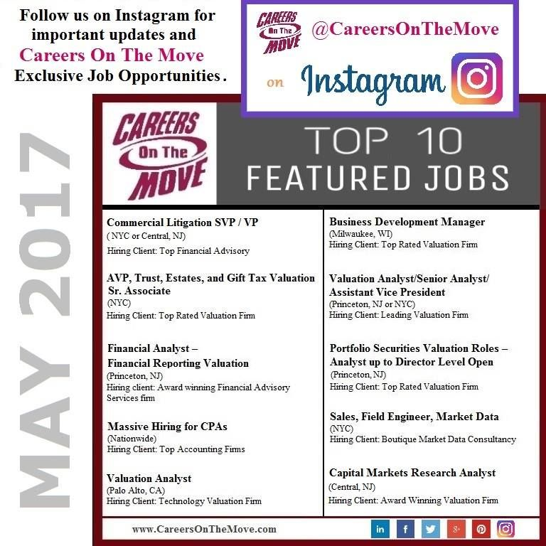 Here it is: Careers On The Move's Top 10 Featured Jobs List May 2017 ...