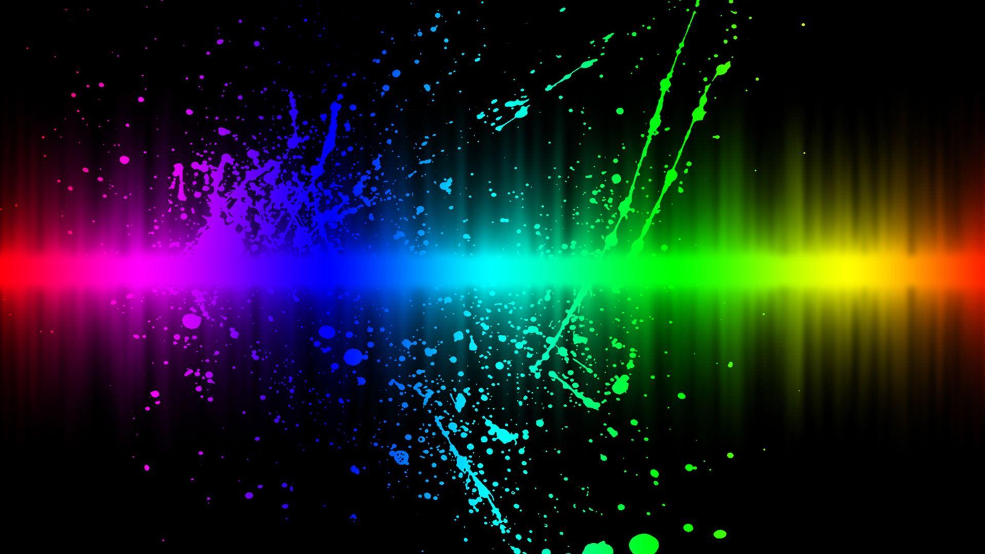 Neon Music Wallpaper Phone Monodomo Rainbow Wallpaper Cool Backgrounds Cool Desktop Backgrounds