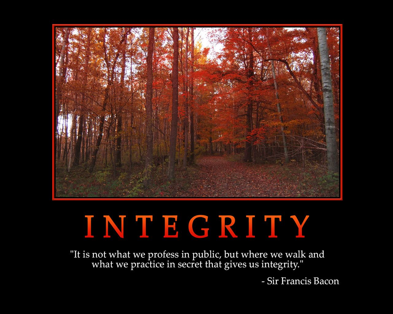 Integrity Quotes | INTEGRITY   Motivational Wallpaper | Bam