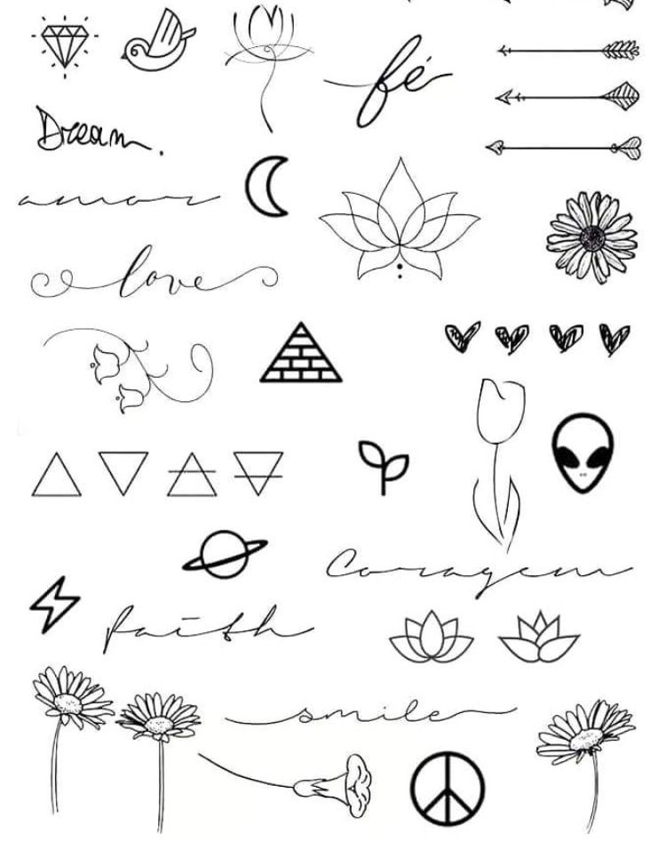 Pin By Valentina On Bullet Journal Tattoo Templates Doodle Tattoo Doodle Drawings