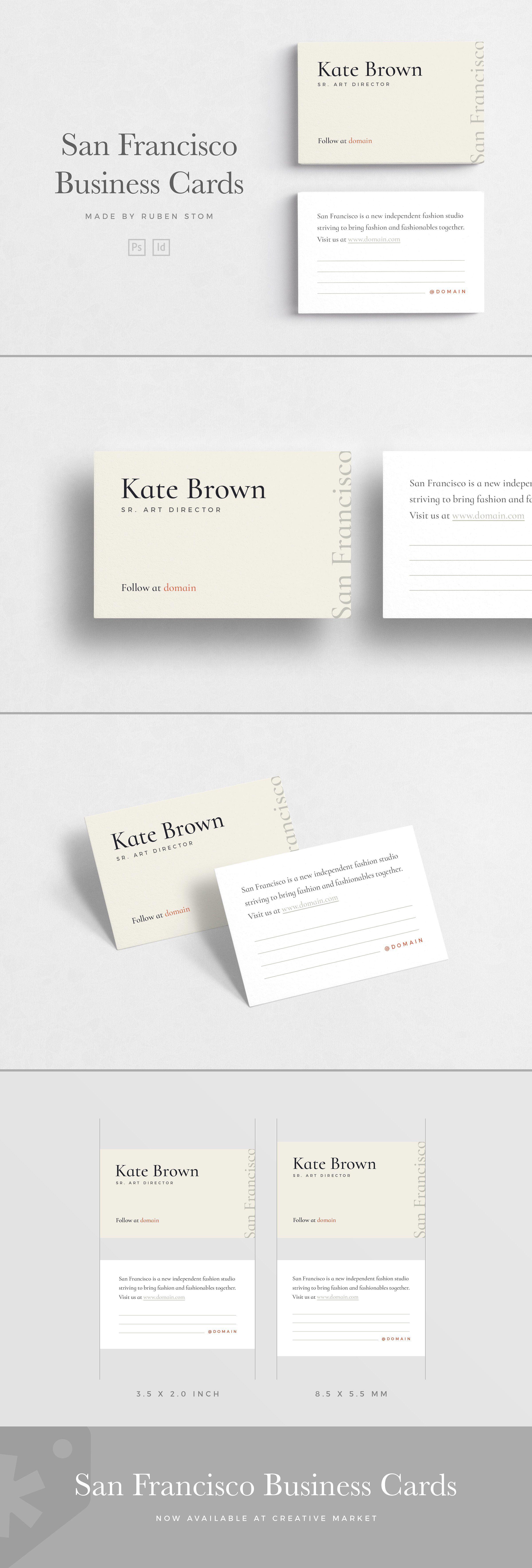 San Francisco Business Cards An Elegant Business Card Template