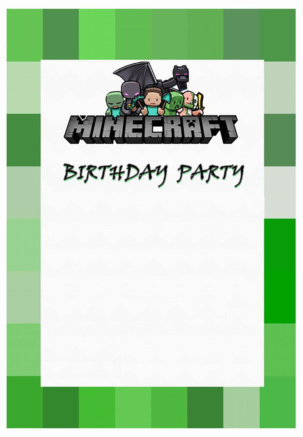 Free Minecraft Invitation | Minecraft | Pinterest | Free, Free ...