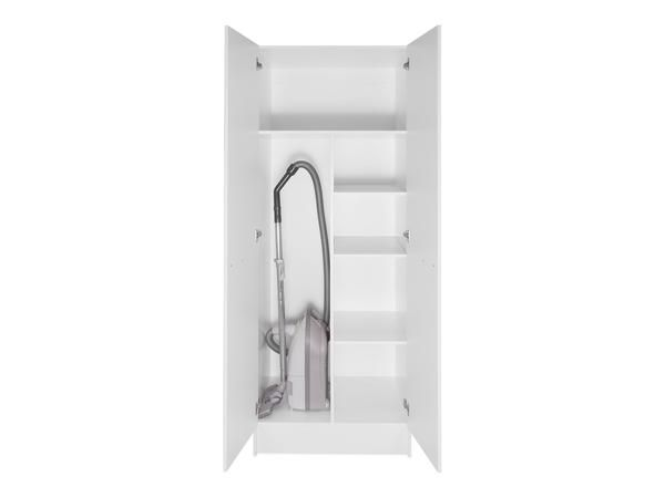 2 Door Tall Broom Cabinet With Shelves Broom Cabinet Cabinet Adjustable Shelving