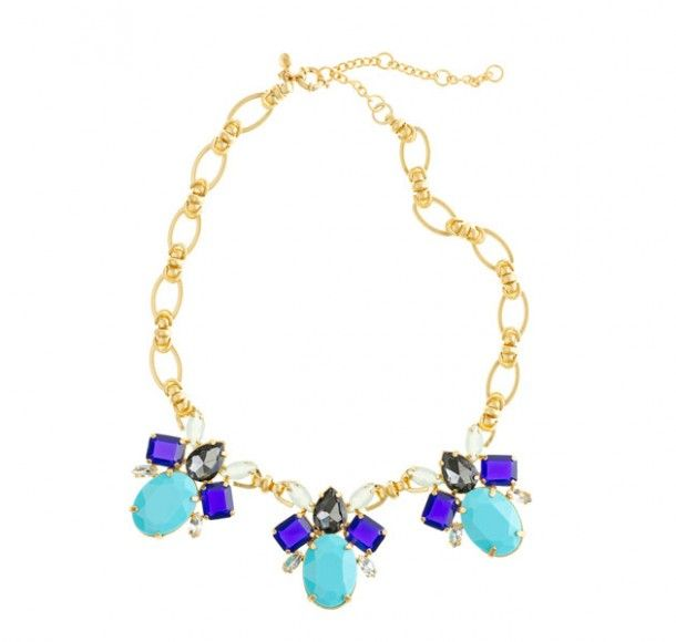 Bring the bling without over-spending, and look glamorous while doing so in this J.Crew neck candy. Colour Drop Necklace , $170, Jcrew.com