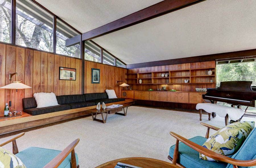 your guide to mid century modern living room storage