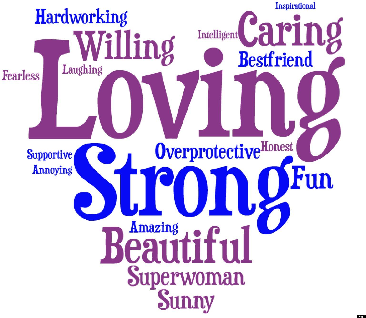 The Words You Use To Describe Your Mom (WORD CLOUD) Pony