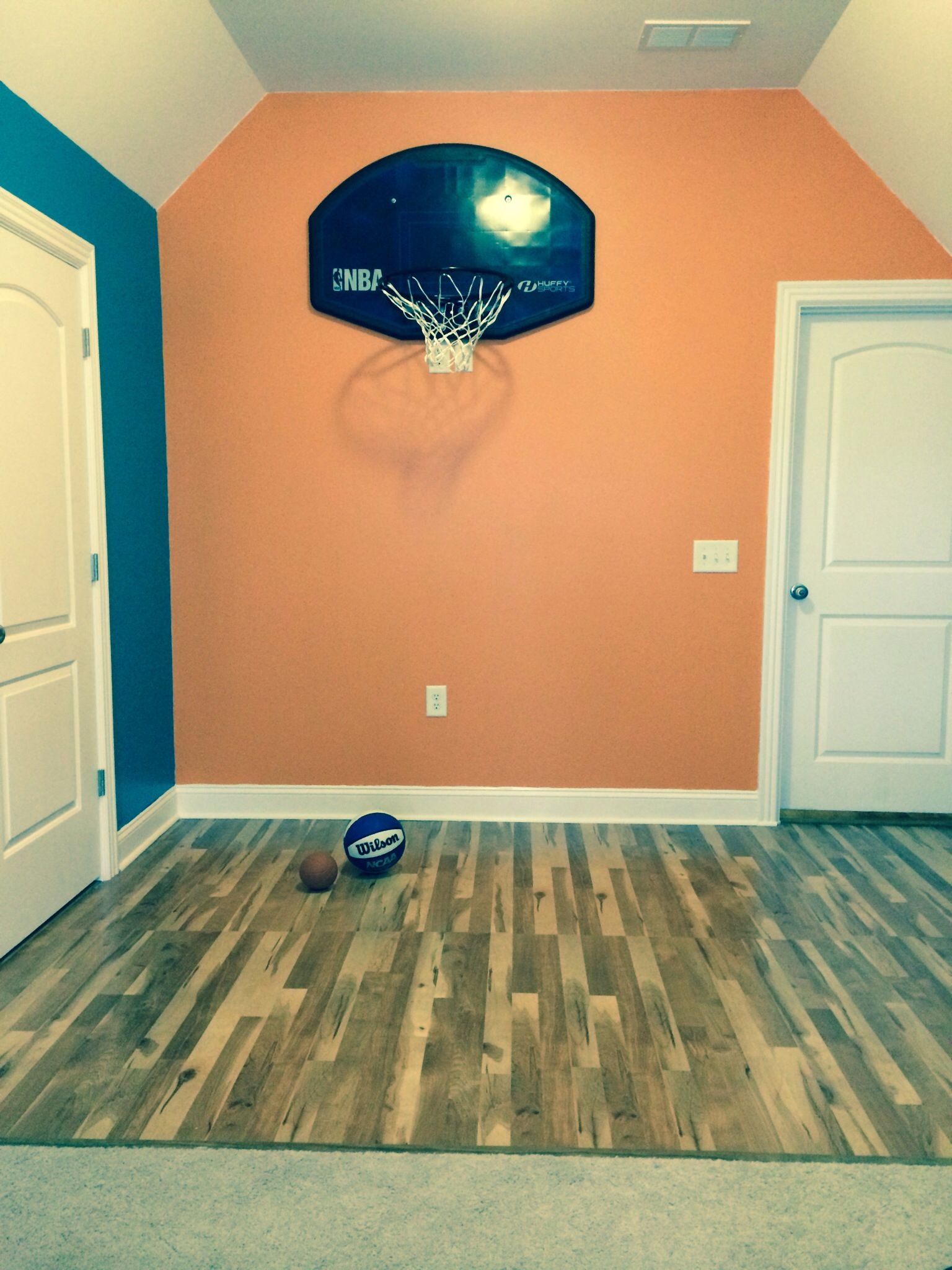 Wonderful My Little Mans Basketball Themed Bedroom. Half The Room Is A Basketball  Court. Still