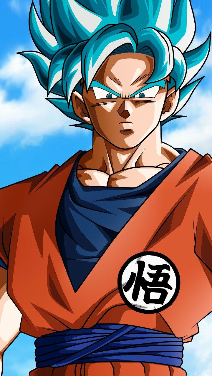 SSJ Blue wallpaper Goku desenho, Desenhos dragonball