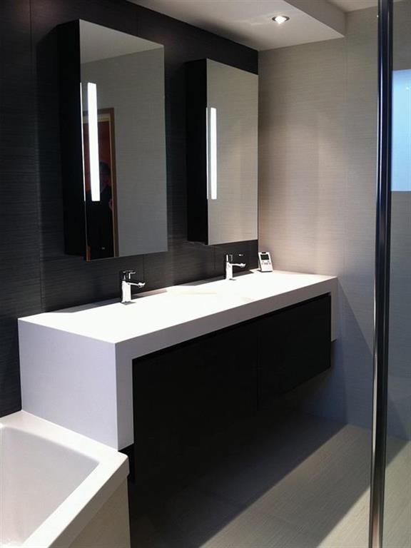 double vasque design et contemporain   Salle de bain - éviers ...