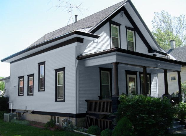 Light Gray House With Dark Gray Trim Google Search Black Trim