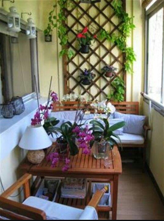 Ideas para terrazas peque as balkonlar pinterest for Terrazas pequenas ikea