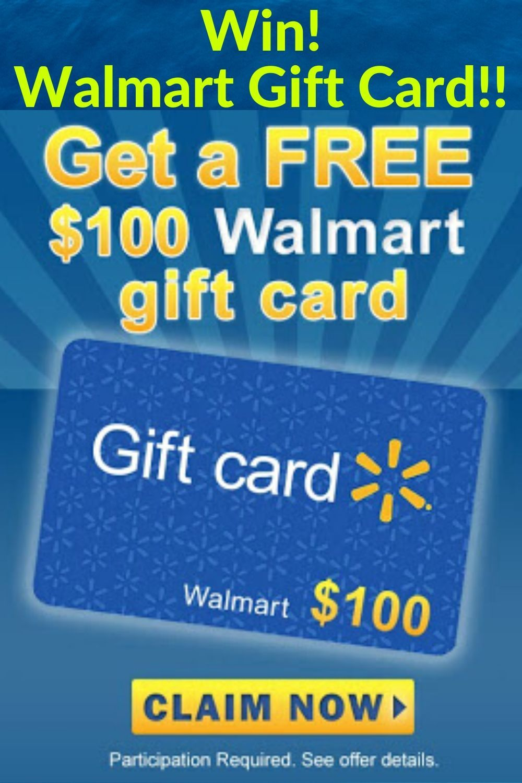 Get A 100 Walmart Gift Card For Usa Walmart Gift Cards Amazon Gift Card Free Free Gift Card Generator