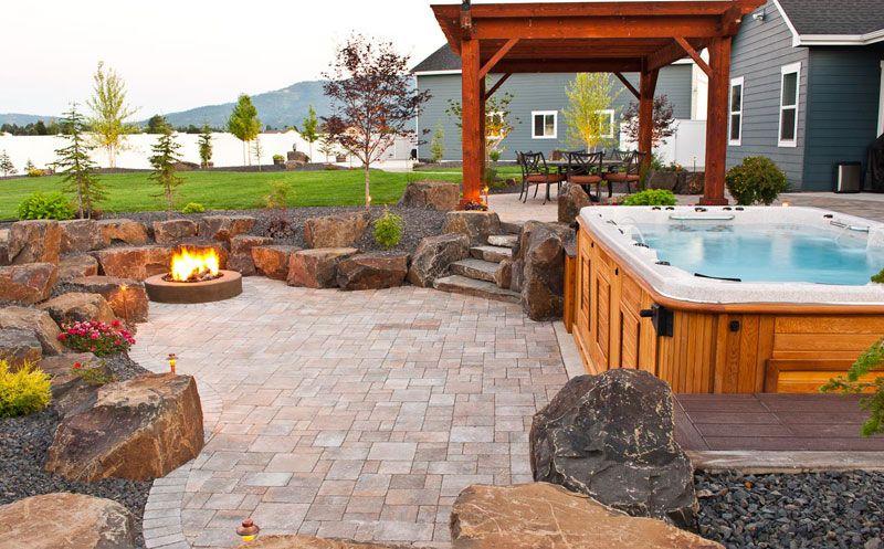 Patio Hot Tub Design And Installation In Spokane Coeur D Alene