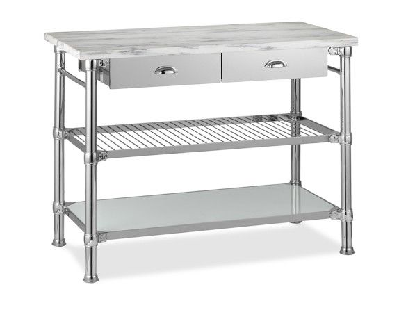 Modular Kitchen Island With Marble Top Polished Nickel 2 500