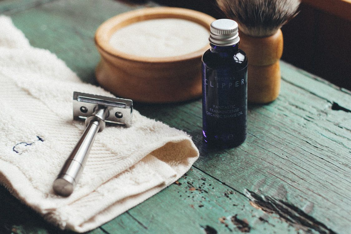 The finest luxury shaving set by Thomas Clipper is hand