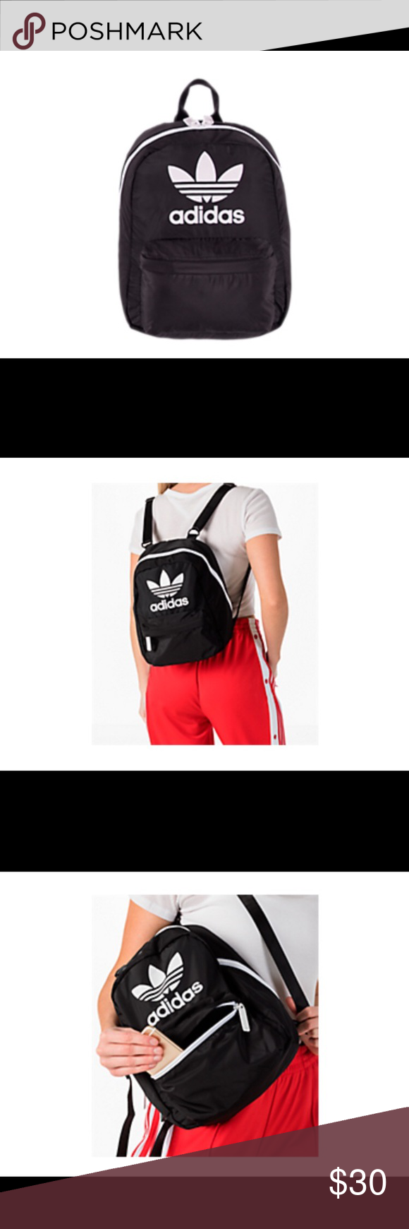 f4a46b6b0229 Adidas National Compact Backpack Brand new Front zip lined pockets ...