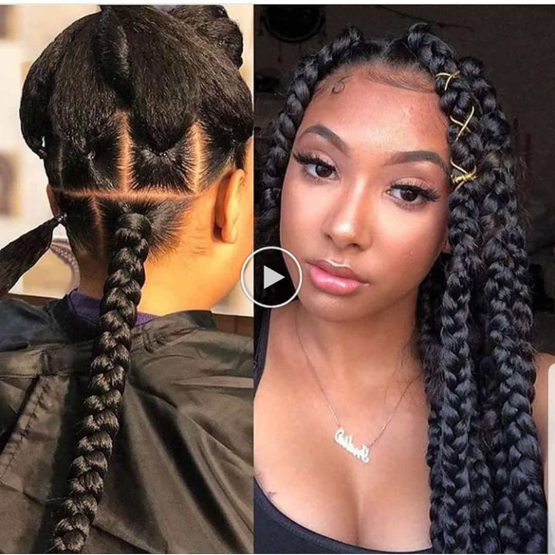 Tag a friend who would love these JUMBO box braids! . Tag the stylist too! . .   Tag a friend who would love these JUMBO box braids!  . Tag the stylis…