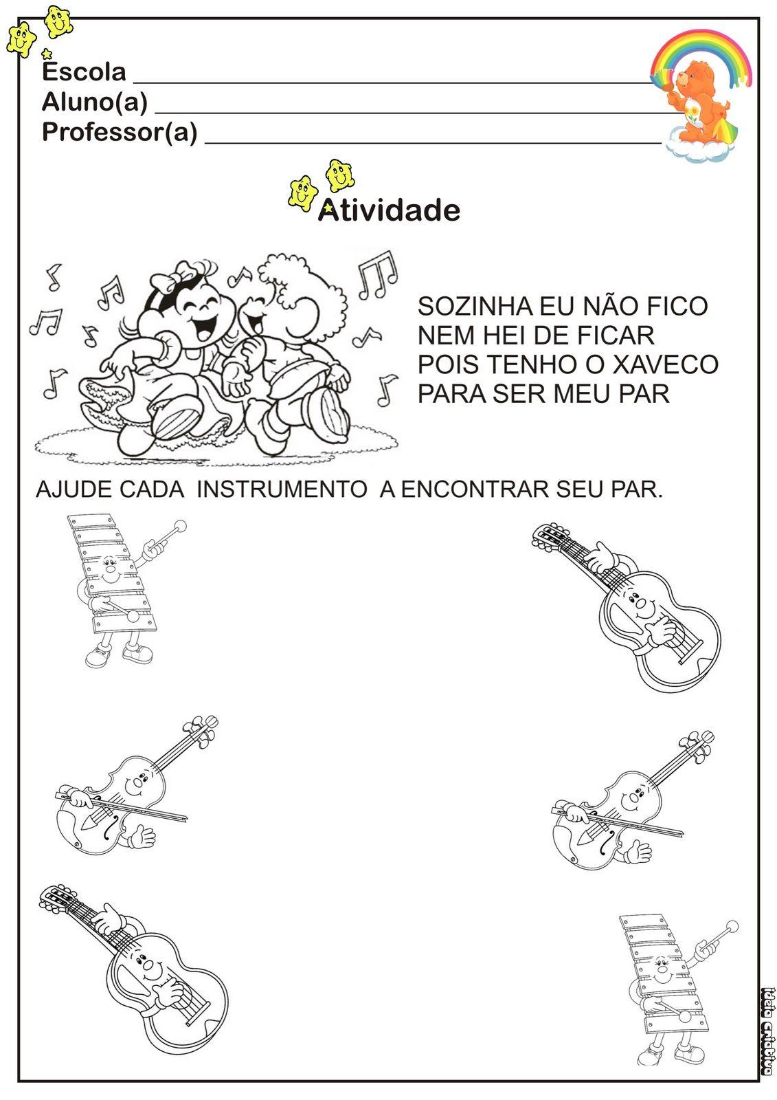 Muitas vezes Resultado de imagem para projeto musica educação infantil creche  XA01