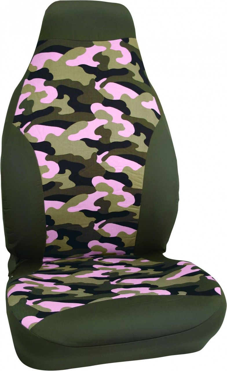 Pink Camo Front Car Seat Cover