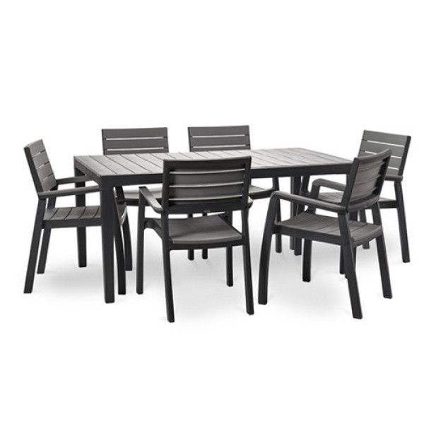 Buy Keter Harmony Outdoor Set Grey 6 1 Online On Fortytwo From