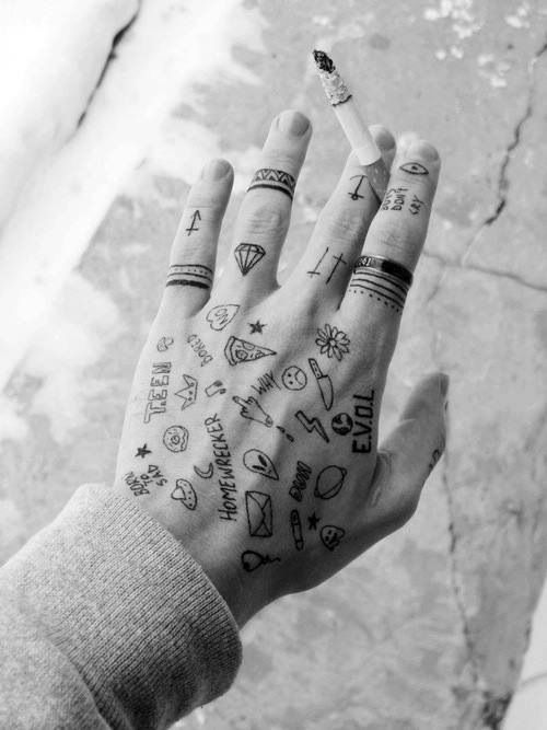 Thisfcknshit Tattoos Hand Tattoos Sharpie Tattoos