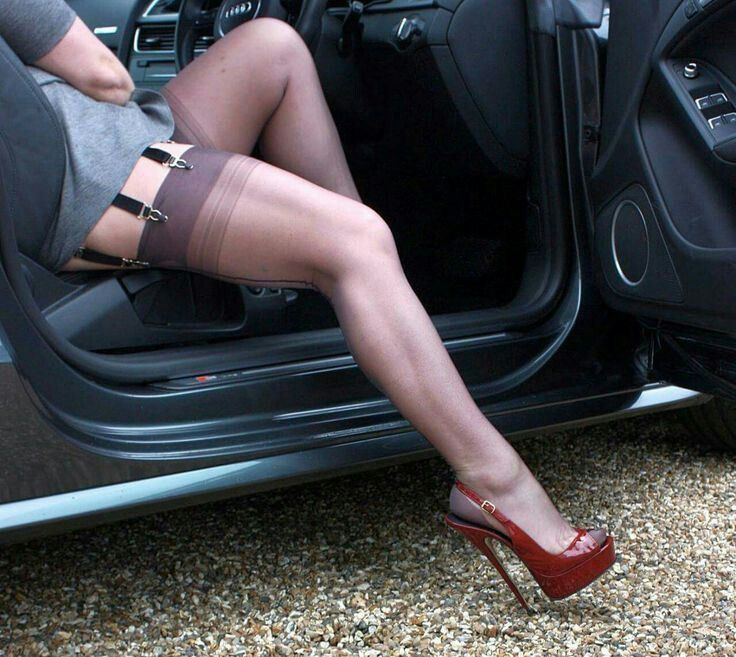 high heels & nylons