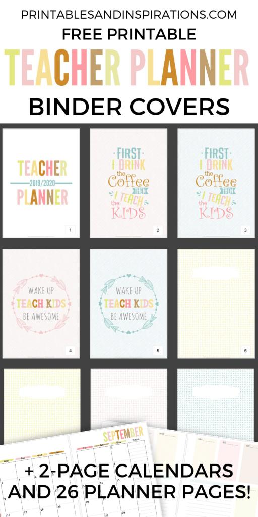 2020 2021 Teacher Planner Free Printable - Printables and Inspirations
