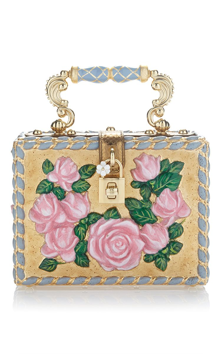 05f56eb164 Flower Motif Box Bag by DOLCE   GABBANA for Preorder on Moda Operandi