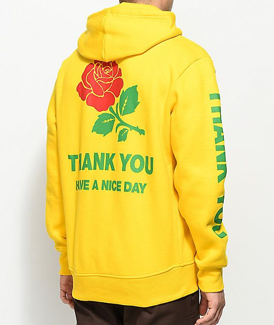 7121d58be Chinatown Market Thank You Rose Yellow Pullover Hoodie in 2019 ...
