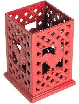Cast Iron Red Rooster Utensil holder