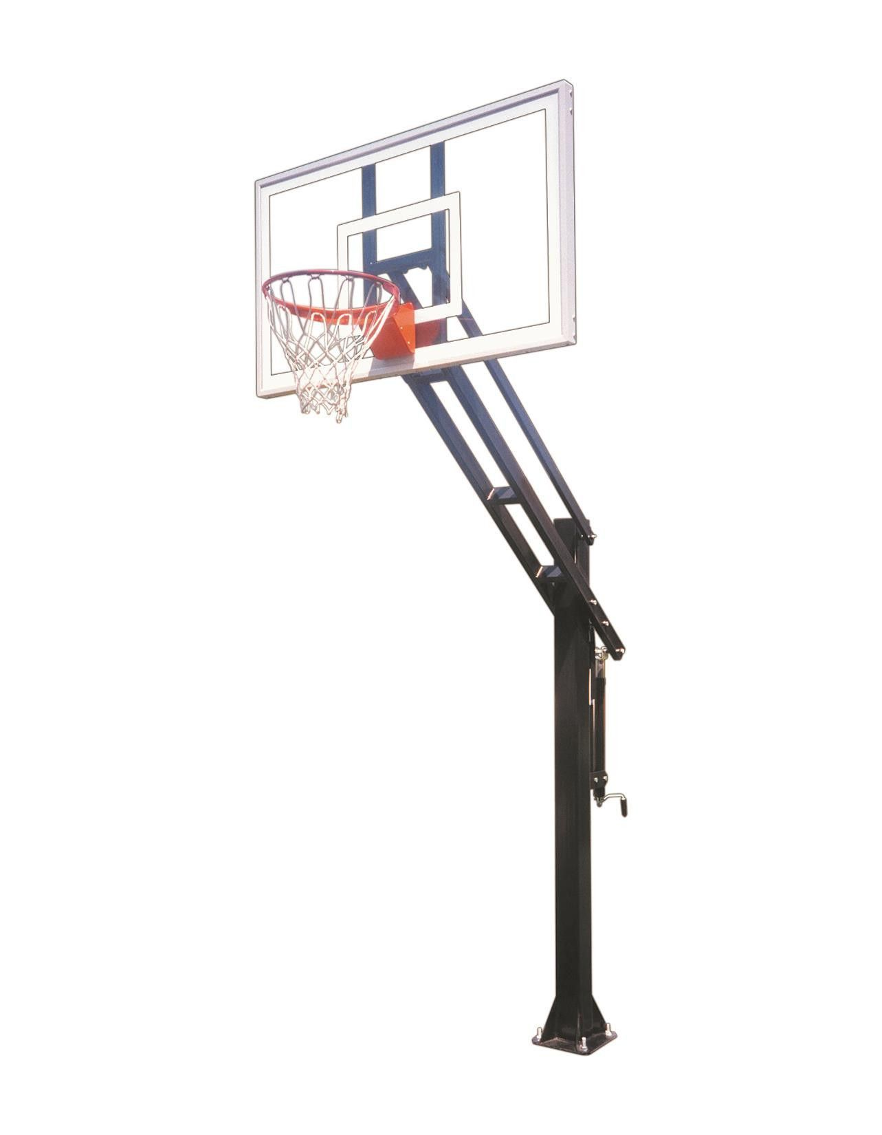 First Team Force Pro In Ground Outdoor Adjustable Basketball Hoop 60 Inch Tempered Glass Adjustable Basketball Hoop One Team Basketball Hoop