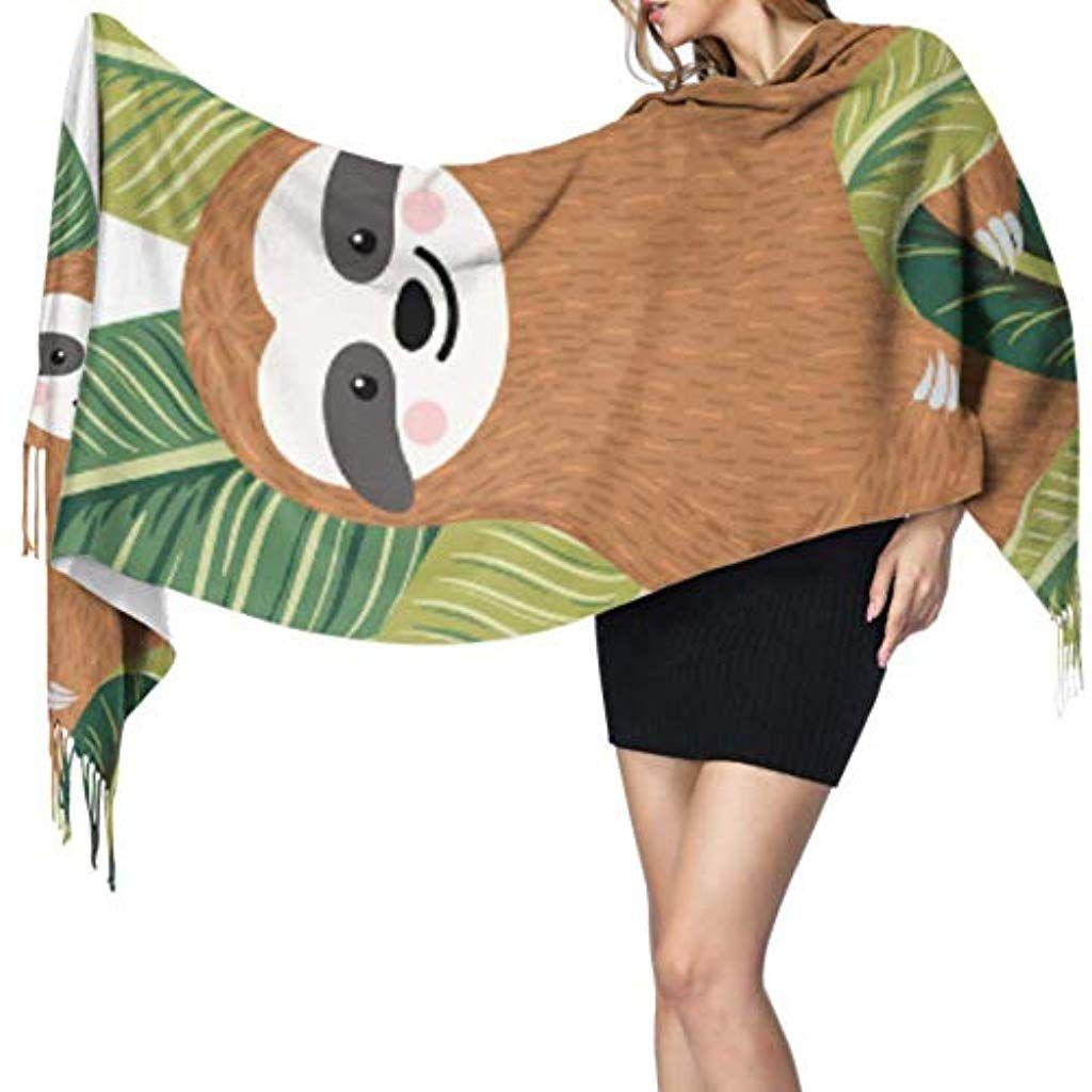 27x77 Wrap Shawl Wrap Cute Baby Sloths Hanging On The Tree Girls Shawl Wrap Women Shawl Wrap Stylish Large Warm Blanket