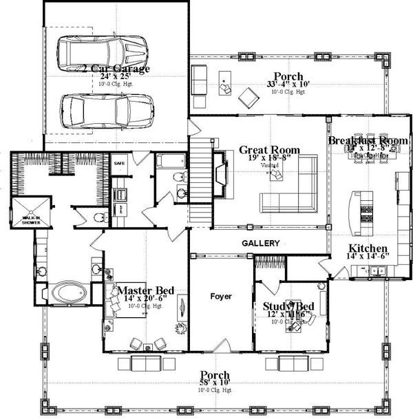 Bungalow Style House Plan 4 Beds 3 Baths 3326 Sq Ft Plan 63 404 Bungalow Style House Plans Floor Plans House Plans