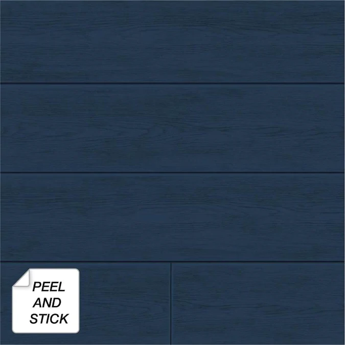 Nextwall 30 75 Sq Ft Coastal Blue Vinyl Wood Self Adhesive Peel And Stick Wallpaper Lowes Com Peel And Stick Wallpaper Peel And Stick Shiplap Ship Lap Walls