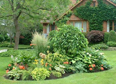 Shade Garden Layout Flower Beds