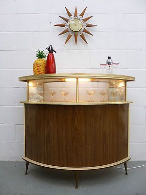 stunning large retro vintage 60s 70s cocktail home drinks bar cabinet with pineapple ice box