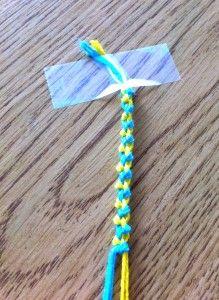 Easy Friendship Bracelet To Make Streamers For Basket