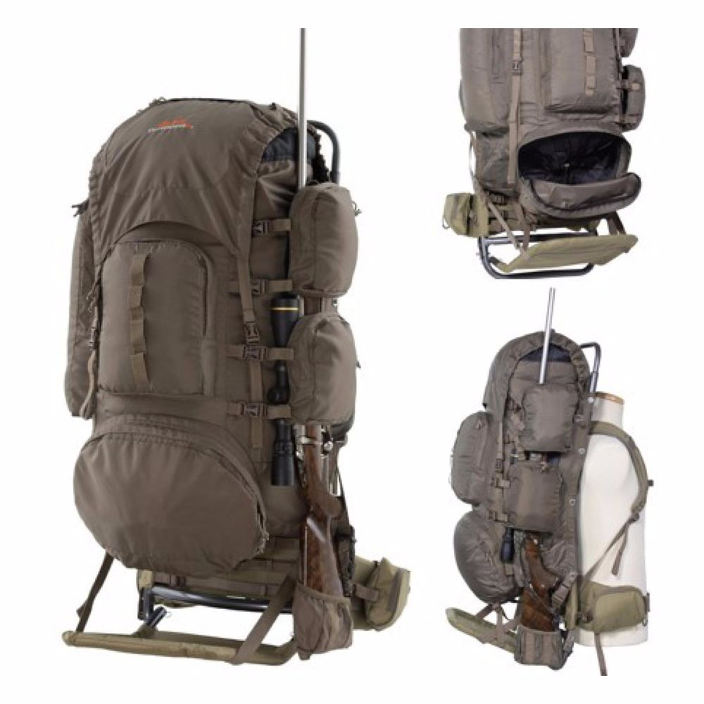 Icymi External Freighter Frame Backpack Large Hunting Hiking Camping Travel Pack Bag