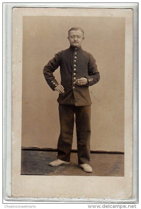 WWI - DUSSELDORF - UN PRISONNIER FRANCAIS - CAMP DE TRAVAIL - CARTE PHOTO MILITAIRE
