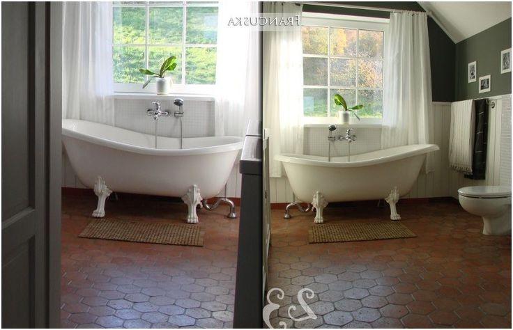 Terracotta Tiles Floor Bathroom Ideas From