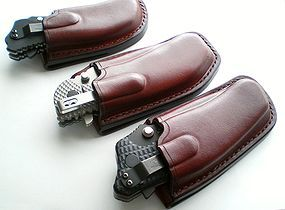 Mahogany vertical leather sheaths for Zero Tolerance 0560, 0200 and 0350