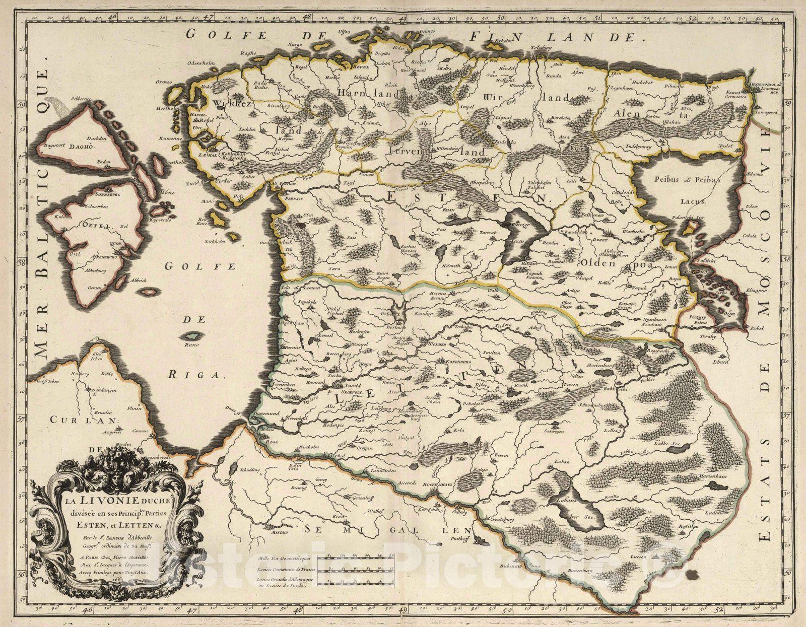 <p>1663 Livonia, Estonia and Latvia.</p>