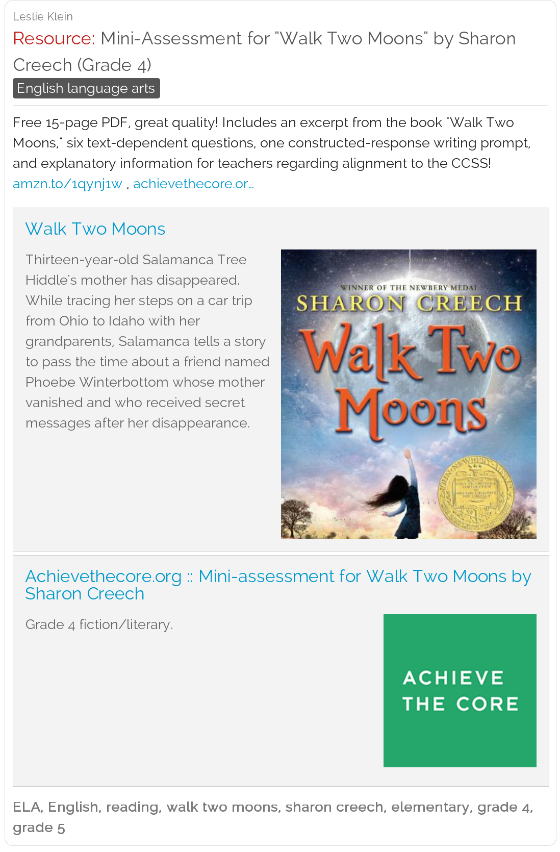 Worksheets Walk Two Moons Worksheets achieve the core mini assessment for walk two moons by sharon creech