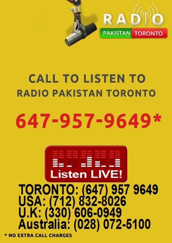 Listen by Calling *** TORONTO: (647) 957 9649 USA: (712) 832