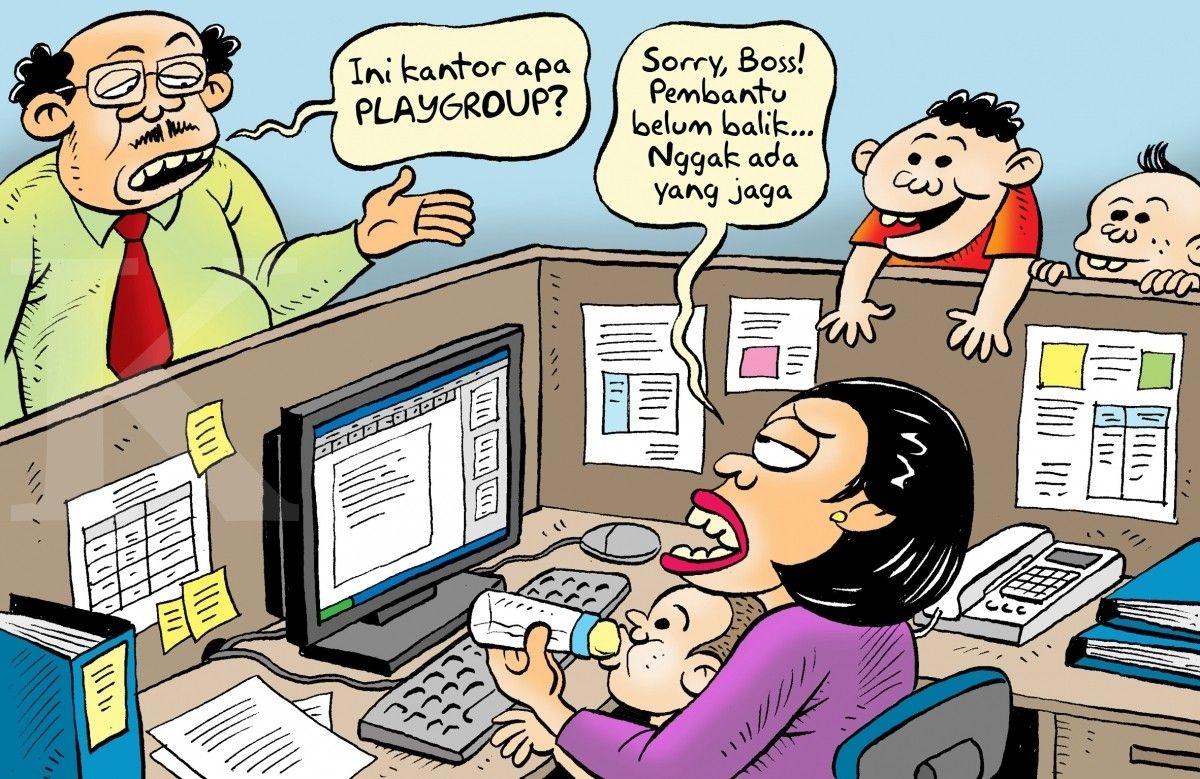 Kartun Benny Kontan Suasana Kantor Pasca Lebaran Momen Lucu Lucu Kartun